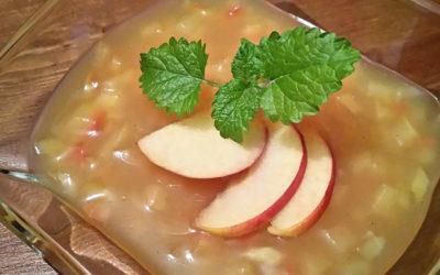 Apfel Vanille Grütze